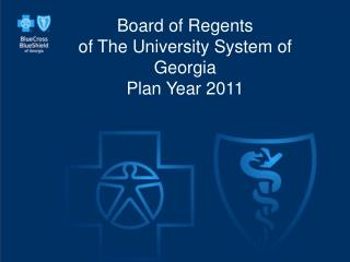 Board of Regents of The University System of Georgia  Plan Year 2011
