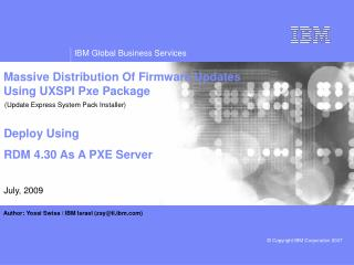 Massive Distribution Of Firmware Updates Using UXSPI Pxe Package