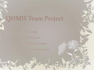 QHMIS Team Project