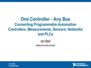 Ian Bell National Instruments