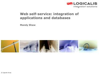 Web self-service: integration of applications and databases