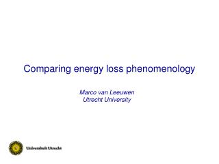 Comparing energy loss phenomenology