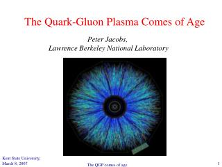 The Quark-Gluon Plasma Comes of Age