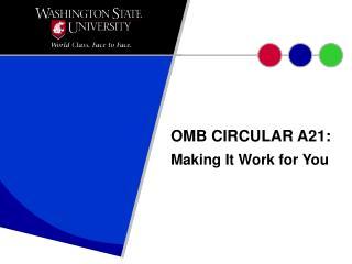 OMB CIRCULAR A21: