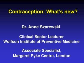 Dr. Anne Szarewski