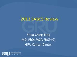 2013 SABCS Review