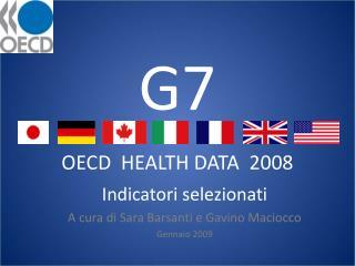 G7 OECD  HEALTH DATA  2008