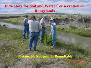 Indicators for Soil and Water Conservation on Rangelands
