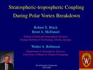 Stratospheric-tropospheric Coupling During Polar Vortex Breakdown