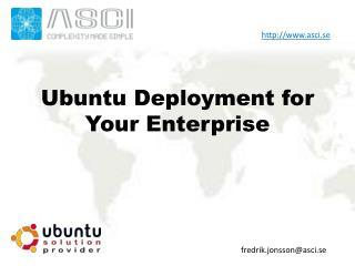 Ubuntu Deployment for Your Enterprise