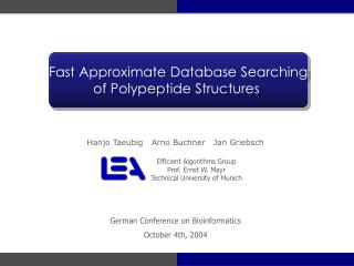 Fast Approximate Database Searching of Polypeptide Structures