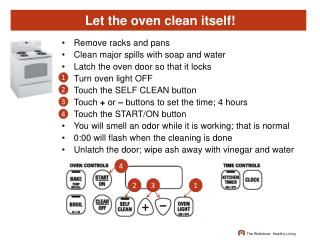 Let the oven clean itself!