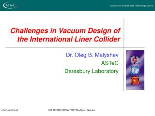 Challenges in Vacuum Design of the International Liner Collider
