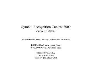 Symbol Recognition Contest 2009 current status