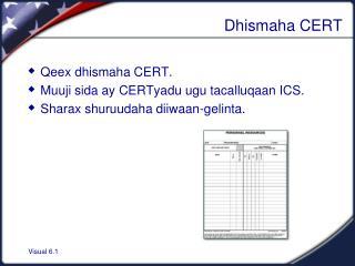 Dhismaha CERT