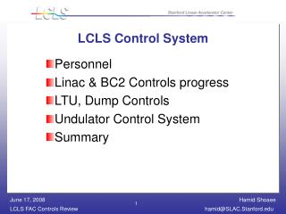 LCLS Control System