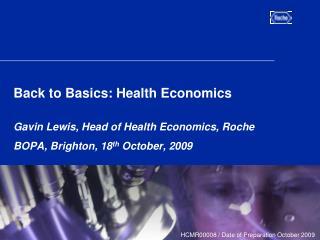 Back to Basics: Health Economics