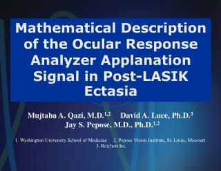 Mathematical Description of the Ocular Response Analyzer Applanation Signal in Post-LASIK Ectasia