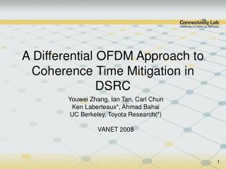 A Differential OFDM Approach to Coherence Time Mitigation in DSRC