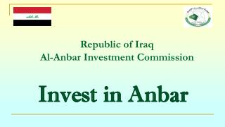 Republic of Iraq Al-Anbar Investment Commission