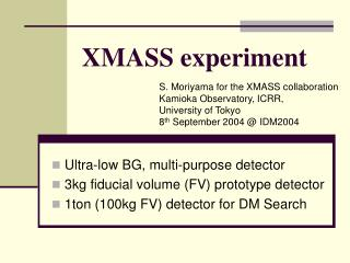 XMASS experiment