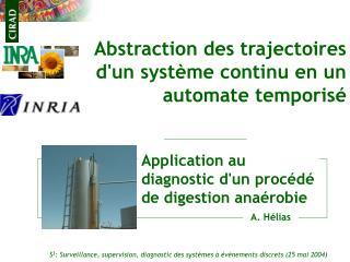 Abstraction des trajectoires  d'un système continu en un automate temporisé