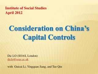 Dic LO (SOAS, London) diclo@soas.ac.uk with  Guicai Li, Yingquan Jiang, and Tao Qin