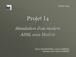 Projet I4 Simulation d'un modem ADSL sous Matlab
