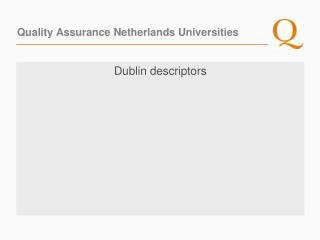 Quality Assurance Netherlands Universities