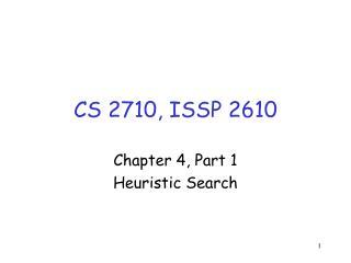 CS 2710, ISSP 2610