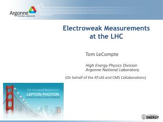 Electroweak Measurements  at the LHC