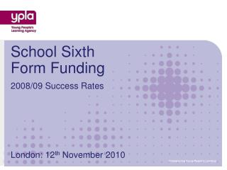 School Sixth Form Funding