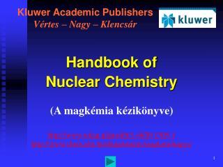 Kluwer Academic Publishers Vértes – Nagy – Klencsár