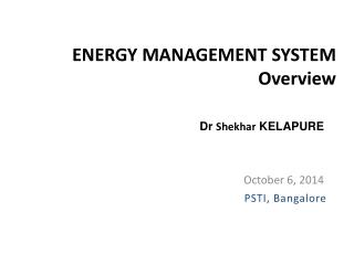 ENERGY MANAGEMENT SYSTEM Overview