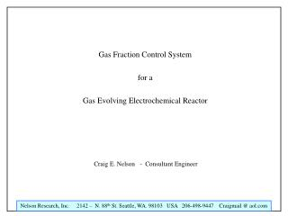 Gas Fraction Control System for a Gas Evolving Electrochemical Reactor