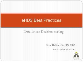 eHDS Best Practices
