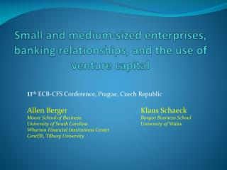 Small and medium-sized enterprises, banking relationships, and the use of venture capital