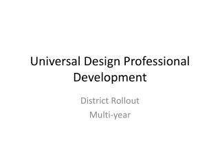 Universal Design Professional Development