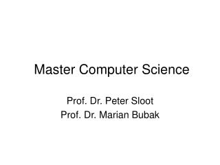 Master Computer Science