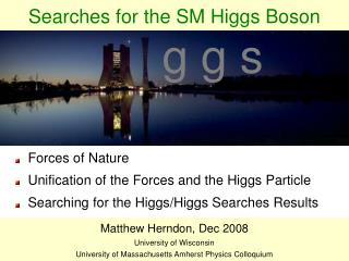 Searches for the SM Higgs Boson