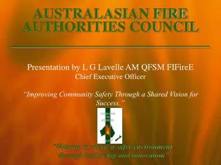 AUSTRALASIAN FIRE AUTHORITIES COUNCIL ___________________________