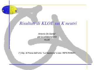 Risultati di KLOE sui K neutri