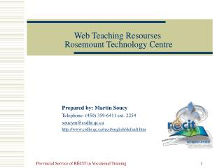 Web  Teaching Resourses  Rosemount Technology Centre