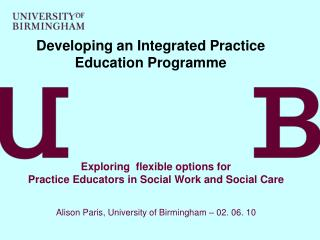 Developing an Integrated Practice Education Programme