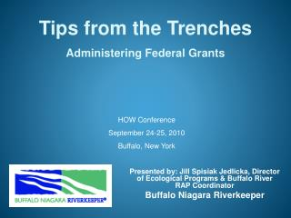 Tips from the Trenches Administering Federal Grants