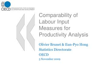 Comparability of Labour Input Measures for Productivity Analysis