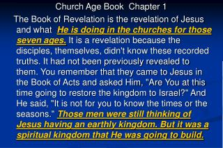 Church Age Book  Chapter 1