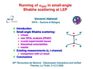 Running of  a QED  in small-angle Bhabha scattering at LEP