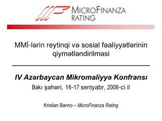 MM İ -l ə rin reytinqi v ə sosial fəaliyyətlərinin qiymətləndirilməsi