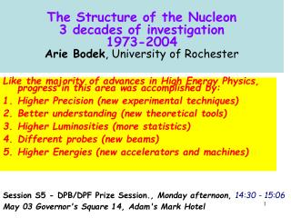 Like the majority of advances in High Energy Physics, progress in this area was accomplished by: